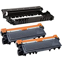 Printing Pleasure DR2300 Drum Unit & 2x TN2320 Toner Cartridges compatible with Brother HL-L2300D HL-L2340DW HL-L2360DN HL-L2365DW DCP-L2520DW MFC-L2700DW MFC-L2720DW MFC-L2740DW - Black, High Yield