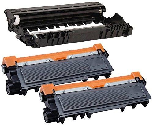 Compatibile DR2300 Tamburo & 2x TN2320 Toner per Brother HL-L2300D HL-L2340DW HL-L2360DN HL-L2365DW DCP-L2500D DCP-L2520DW DCP-L2540DN DCP-L2560DW MFC-L2700DW MFC-L2720DW MFC-L2740DW - Nero, Alta Resa
