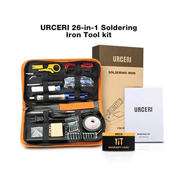 URCERI Kit Soldador, 26 EN 110V 60W, Soldador eléctrico de estaño, temperatura