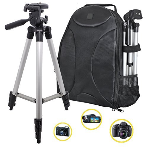 PHOTOGRAPHY: 50 Tripod & Sleek Digital SLR Camera/Camcorder Padded Backpack For The Photo Enthusiast or Casual Photographer! (Nikon Canon Sony Samsung)  available at amazon for Rs.7869
