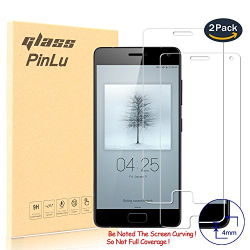 [2 Stück] pinlu® Panzerglas Bildschirmschutzfolie für ZUK Z2 Pro (5.2 zoll) Transparent Glasfolie Protector 9H Härtegrad Schutzglas,99prozent Transparenz,Einfaches Anbringen,3D Touch Kompatibel