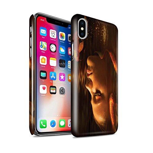 Offiziell Elena Dudina Hülle / Glanz Snap-On Case für Apple iPhone X/10 / Tiefsee/Seepferdchen Muster / Agua de Vida Kollektion Goldene Fische
