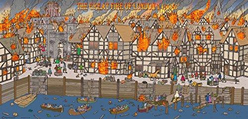 The Great Fire of London Vinyl-Hintergrund, 250 x 120 cm