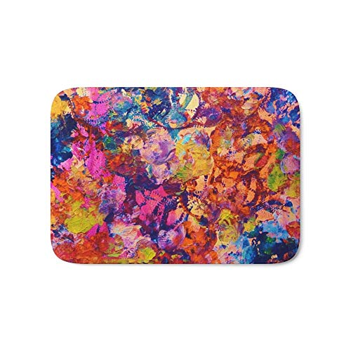 Jolly2T Everybody's Coaster- Bold Abstract Acrylic Painting Wine Glass Coaster Wow Autumn Home Decor Gift Bath Mat 15.7