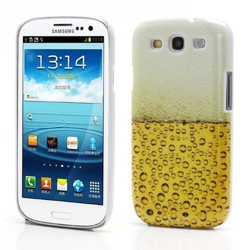 Hard Case / Cover Samsung Galaxy S3 / GT-I9300 Galaxy S3 LTE / GT-I9305 Bière verre de protection couverture arrière de cas de Shell Rétro