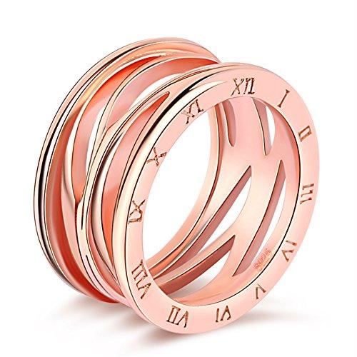 Impression 1 PCS Anillos Anillo de numeración romana Anillo de diamantes de Moda Anillo de Cristal Girl Accesorios de la Joyería Día de San Valentín Regalos de Boda Anillo Abierto Oro rosa