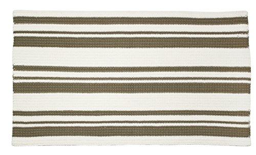 mDesign Alfombra moderna – Ideal como alfombras dormitorio, cocina,