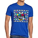 style3 Televisione Monoscopio T-Shirt da Uomo Sheldon televisivo, T-Shirt Hauptfarbe Alt:Blu;T-Shirt Größe Alt:M