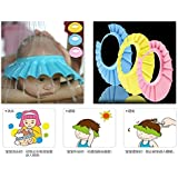 Magnusdeal@ Baby Safe Shampoo Shower Bathing Protect Soft Cap Hat For Baby Children Kids Button Qty.(1pcs) (Pink)