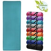 Esterilla colchoneta –de yoga –HARMONY 180 cm x 60 cm x 1.5 cm para fitness deportiva pilates gimnasia ejercicio, Color:Fresh Turquoise