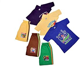 Ezee Sleeves Combo Boys T-Shirts and Shorts Pack of 3