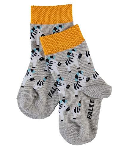 FALKE Unisex Socken Baby Zebra Mehrfarbig (storm grey 3820) 17 (Herstellergröße: 74-80)