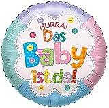 Karaloon F81207P Folienballon Hurra Das Baby ist da