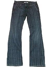 Fornarina Damen Jeans Blau Model Club Gestreift