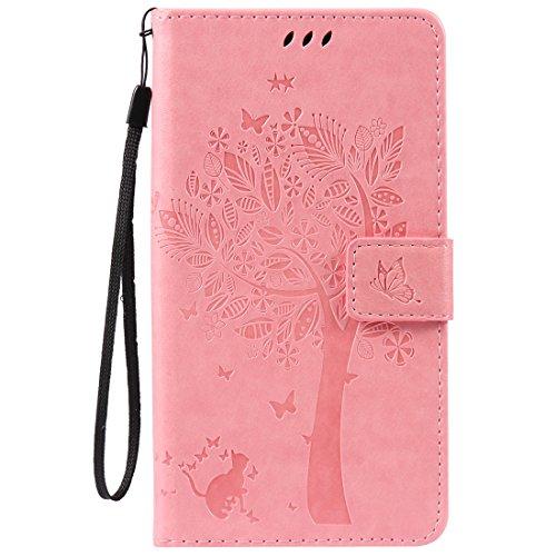 Nancen Wallet Case Tasche Hülle für HTC Desire 825 (5,5 Zoll) Flip Schutzhülle Zubehör Lederhülle mit Silikon Back Cover PU Leder Handytasche im Bookstyle Stand Funktion