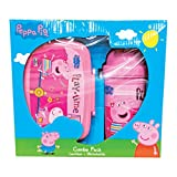 #5: Peppa Pig Play Time Children School Combo Box for Kids of Age 3 Years Onwards | Includes 1 Lunch Box & 1 Water Bottle | BPA Free | Attractive Print | Bright and Colourful | Certified Safe as per European Safety Standards (EN71) | Imported Premium Quality | Pink Colour