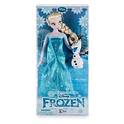 New In Box Disney Store Frozen 12'' Inches Elsa Classic Doll With Olaf 2016 In New Packaging by Disney de Disney