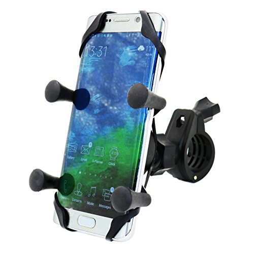 MOTOPOWER MP0609B Bike Motorcycle Cell Phone Mount Holder- For any Smartphone & GPS - Universal Mountain & Road Bicycle Motorcycle Handlebar Cradle Holder