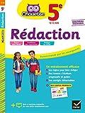 Rédaction 5e: cahier d'entraînement en rédaction