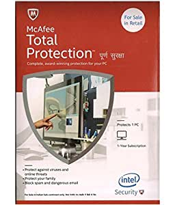 McAfee Total Protection- 1 PC, 1 Year (CD)