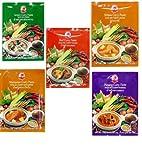 Cock Brand - 5 verschiedene Curry Pasten je 50g