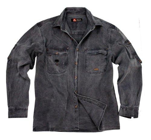 robustes Outdoor Herrenhemd Overshirt in braun, mustard, grün und khaki, Langarm- Shirt von Kakadu Australia Senf