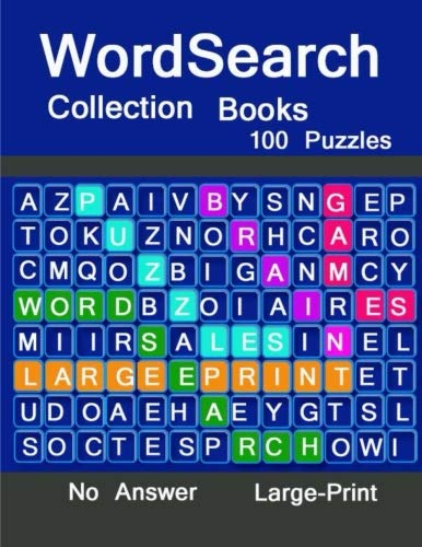 Word Search Collection Books Large-Print No Answer: Brain Games WordSearch Puzzles ,boosting entertainment for adults and kids por judy midterm