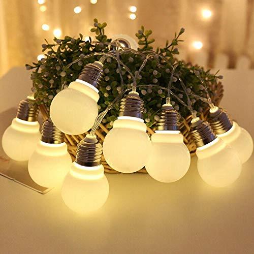 iBaste Led Lichterkette Außen Hängend Lichterkette Glühbirne Strombetrieben Warmweiß Wasserdicht Globus Schnur Lichterkette Sternlicht für Weihnachten, Hochzeit, Party, Ferien