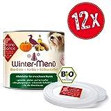 ChronoBalance | Hochwertiges Bio Nassfutter für Hunde | Getreidefrei/Glutenfrei & lactosefrei | Rezepturen dem Biorhythmus angepasst | zertifizierte Bio-Zutaten (Winter-Menü (Bio-Ente), 12x200g)