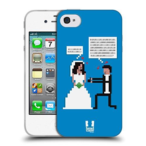 Head Case Designs Hochzeit Versprechen Leben Eines Gamers Soft Gel Hülle für Apple iPhone 4 / 4S (Leben Case Für Iphone 4s)