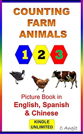 counting farm animals picture book in english spanish