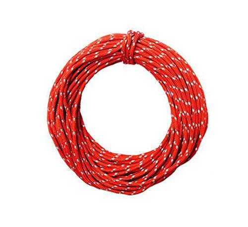 15 m (50ft) Reflektierende Nylon Cord Woven für hohe Festigkeit Sicherheit Klettern Seil Abseilen Seil Klettern Cord Klettersteigset Rescue Parachute Rope -