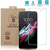 tinxi® Tempered Explosionsgeschützte Glass Hartglas für Alcatel Onetouch Idol 3 /6045Y (5,5 Zoll) Premium Screen Protector Ultra Hart Displayschutz 2.5D
