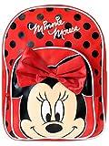 Disney Minnie Mouse Mädchen Minnie Mouse Rucksack mit Bogen