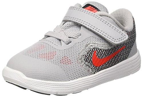 Nike Jungen Revolution 3 Tdv Sneakers, Grau (Wolf Grey/Max Orange/Black/White), 26 EU (Orange Nike-schuhe Für Kinder)