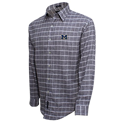Gebürstete Baumwolle Check Shirt, herren, Brushed Cotton Check Shirt, Grau/Weiß, XX-Large