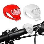 51gNWRXN8HL. SS150 Set di 4 Luce Bicicletta, ZeWoo LED Luci Bici, Illuminazione Bicicletta Set Impermeabile - Non Ricaricabile, Batterie incluse