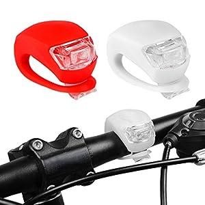 51gNWRXN8HL. SS300 Luce Bici Led Anteriore, Aufeel Luci Led Bici Frog Luce Led silicone della bicicletta della luce anteriore kit Red…