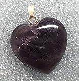 KRIO - Amethyst Herz mit kräftiger Farbe, als Anhänger mit Sterlingsilber Öse, elegante bauchige Form