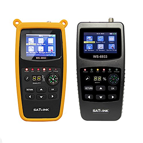 SATLINK Satellite Finder Meter DVB-S2/S HD Digital Signal Detector FTA Satellite TV Receiver with 2.1 Inch LCD Display Compass & Flashlight Function (WS-6933) Test