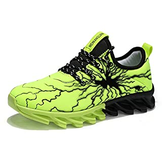 TORISKY Unisex Sportschuhe Laufschuhe Sneakers Turnschuhe Fitness Mesh Air Leichte Schuhe Rot Schwarz Weiß (A61-Green38) oN8qBEP4