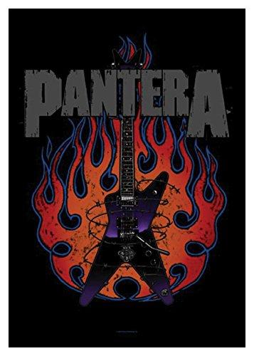 Official Merchandise Band Posterfahne - Pantera - Guitar (Pantera Flagge)