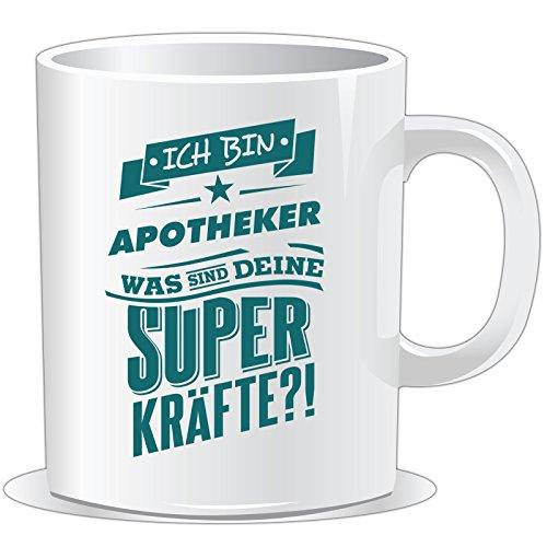 getshirts - RAHMENLOS® Geschenke - Tasse - Superpower Apotheker - petrol - uni uni (Becher Apotheker)