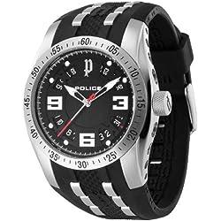 POLICE Herren-Armbanduhr XL TOPGEAR X Analog Quarz Kautschuk P12892JVS-02