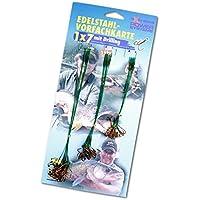 30 Stahlvorfächer 1x7 mit Drilling Vorfachkarte Hecht Vorfach Raubfisch Vorfächer Hechtvorfach Stahlvorfach