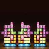 Pegasus Tetris apilable lámpara de escritorio diy construible estilo retro juego LED