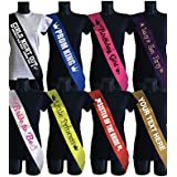 SMARTYPANTS Personalised Sash ( Hen Party / Birthday / Baby Shower / 18th / 21st / 40th)