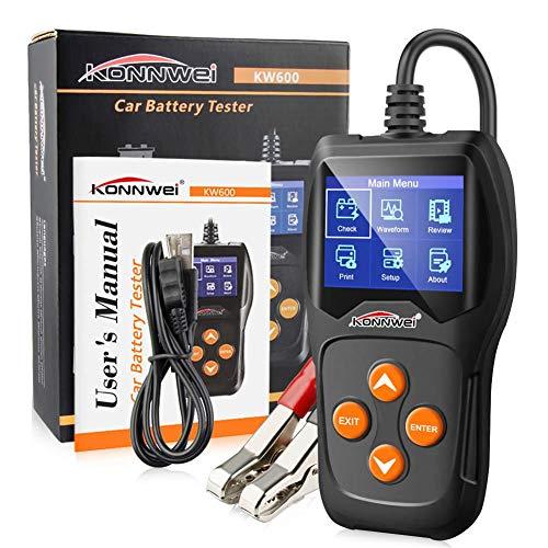 Meetforyou Tester Batteria Auto Professionale 12 V Tester Alternatore Digital Analyzer Strumento di Test della Batteria, Gel, EFP per Auto/Barca/Motocicletta