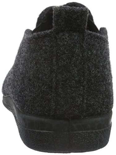 Hans Herrmann Collection Hhc, Chaussons homme Noir - Schwarz (Wollfilz Antracite)
