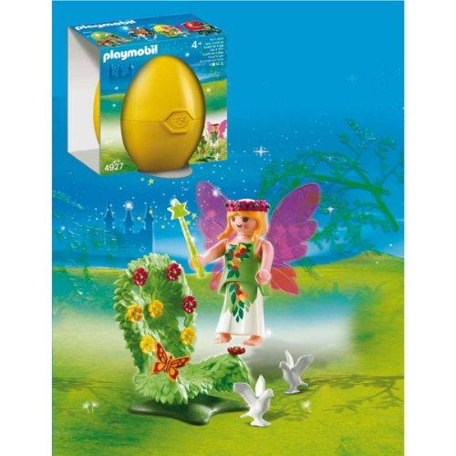 playmobil-4927-figurine-oeuf-2011-fee-avec-trone-fleuri